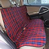 PAWZ Road ペット用ドライブ シート 汚れに強い 防水 ドライブ用 後部 座席シートカバー 格子縞
