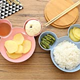 ICYCHEER Plastic Mickey Head Big Bowl Dish Of Fruits Baby Dishes Lunch Box Baby Bowl Divided Plates for Toddlers, Babies and Kids (Green)