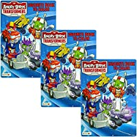 Value 3 Pack Angry Birds Transformers 32ページカラーリングブック