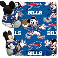 NFL Mickey Mouse Pillow with Fleece Throw Blanket Set by Disney