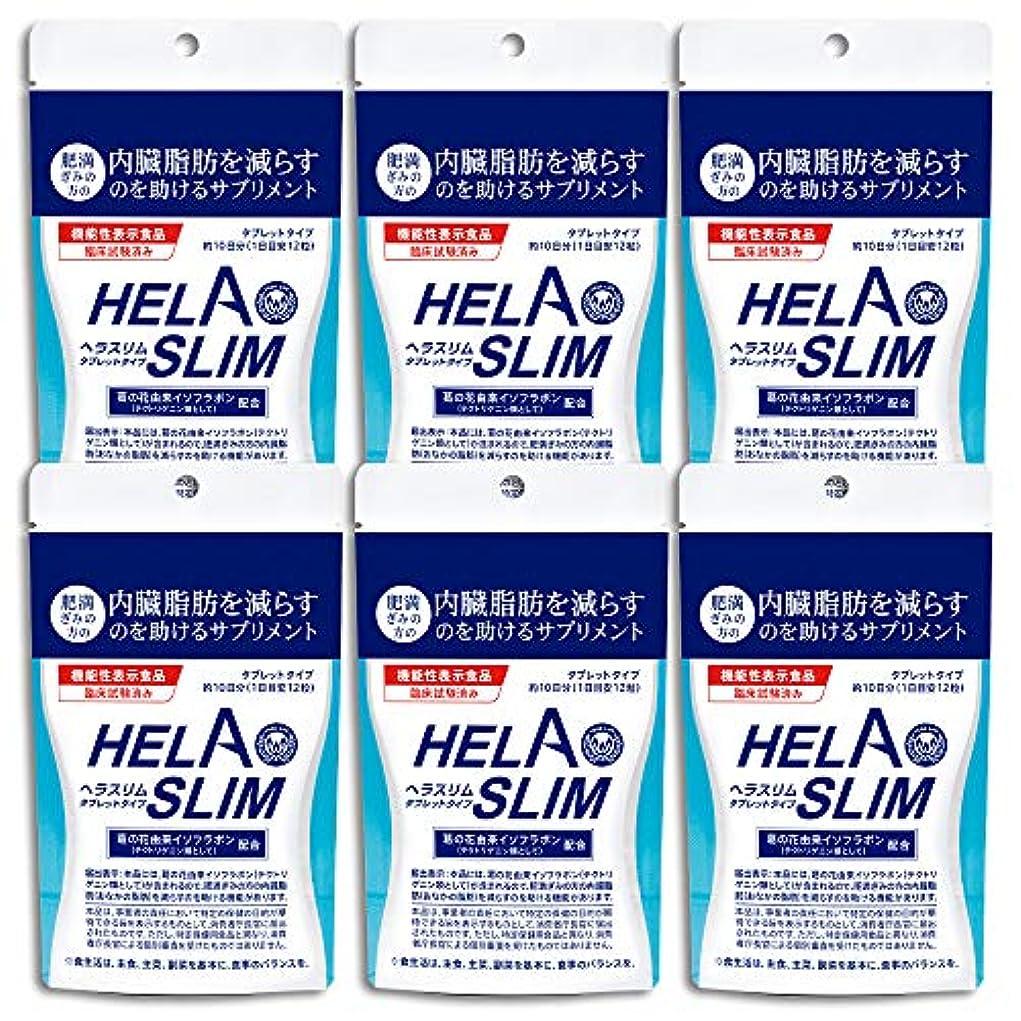 そっと批判的生き返らせる【6袋セット】HELASLIM(120粒入り)アルミパック