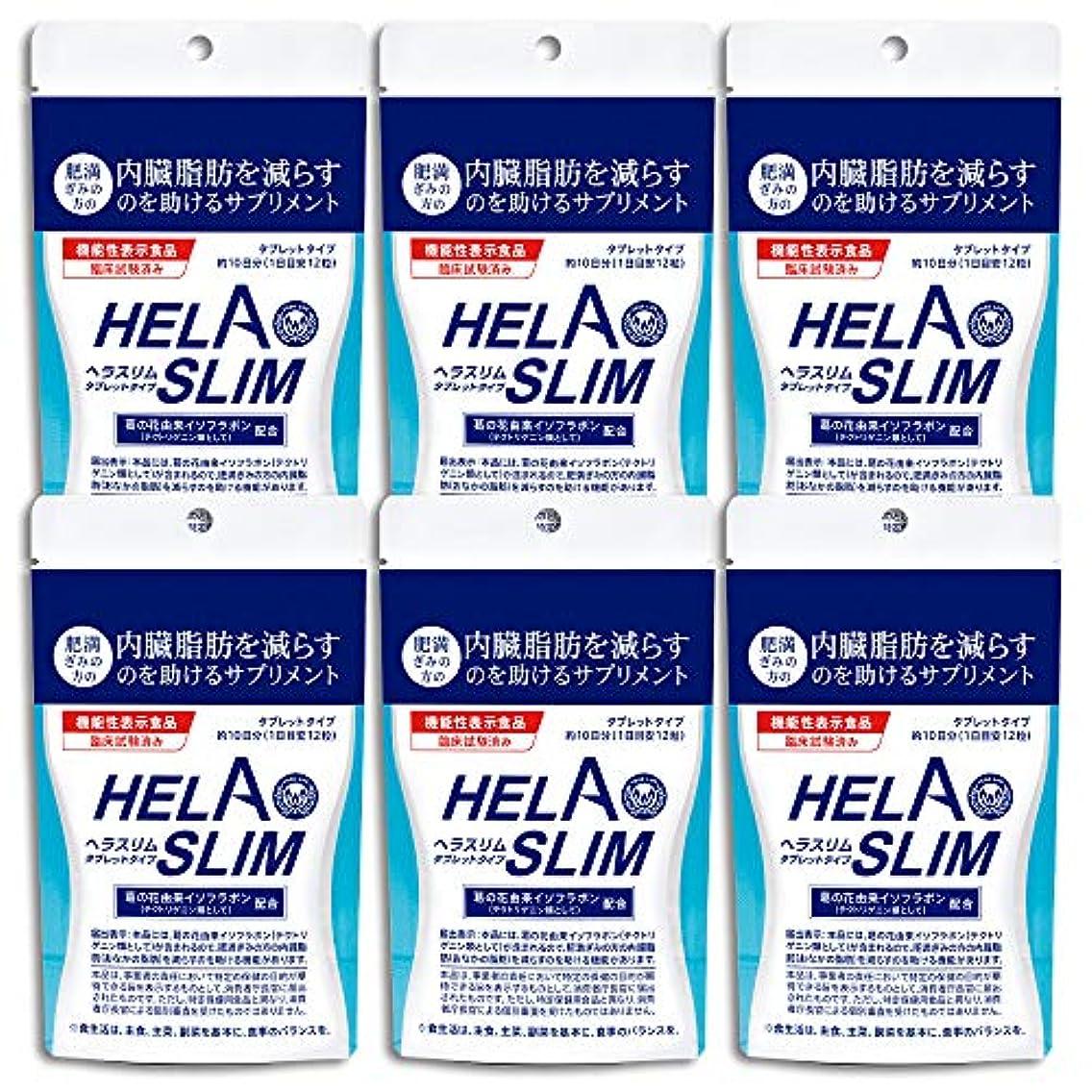 タイプ腰時間とともに【6袋セット】HELASLIM(120粒入り)アルミパック