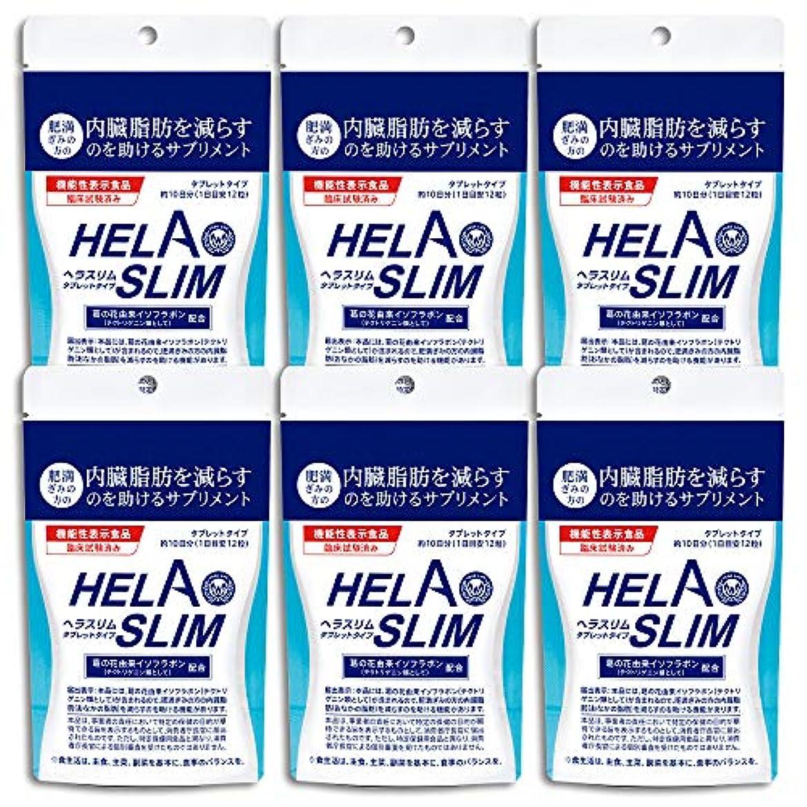 連想キャプション仲間【6袋セット】HELASLIM(120粒入り)アルミパック