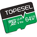 TOPESEL 64GB Micro SD Card UHS-I Speed up to 80m/s,Memory Card Micro SDHC,Class 10,U1 for Cemera/Phone/Nintendo-Switch/Galaxy
