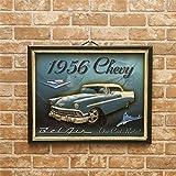 アメリカ雑貨 玄関 立体的 アンティークボード 1956 Chevy