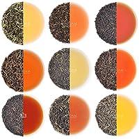 ダージリンティ・サンプラー - 10種類のルーズリーフティ、50杯分 - 最高の茶地所からのファーストフラッシュダージリンティ、セカンドフラッシュダージリン、オータムフラッシュダーリジンティ、シングルエステート ダージリンティ & 巧妙に精選されたブレンド、100gm