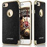 LOHASIC iPhone 7 ケース,レザー カバー スリム フィット 超軽量  シンプル  耐衝撃 ソフト アイフォン7 ケース-ブラック