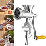 ICYSTO Manual Mincer Meat Grinder Pasta Maker Hand Operated Beef Sausage Maker Kitchen Aluminum alloy