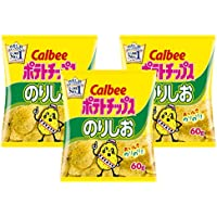 Calbee 薯片 海苔盐味 60克×3袋