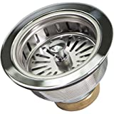 Everflow Stainless Steel Drain Assembly with Strainer Basket Kohler Style Stopper, 7513