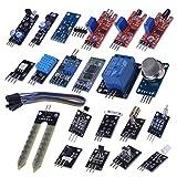 Kuman 20個セット Arduino用センサー センサーモジュール RGB LEDモジュール+TCRT5000 光学赤外線追跡+18B20温度センサ 初心者 実験用 電子部品 電子キット KY63
