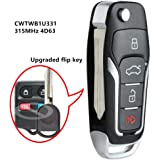 Beefunny New Upgraded Flip Remote Car Key Fob 315MHz 4D63 Chip for Ford Lincoln Mercury CWTWB1U331 (1)