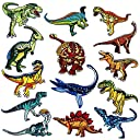 アイロン刺繍ワッペン アップリケワッペンDIY服 おしゃれ 可愛い装飾 パッチ 補修 恐竜モチーフ 様々な大小サイズ 14枚セット