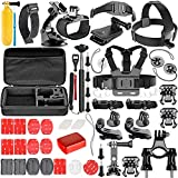 Neewer 57-in-1 Action Camera Accessory Kit for GoPro Hero 7 6 5 4 3+ 3 2 1 Hero Session 5 Black AKASO EK7000 Apeman SJ4000 5000 6000 DBPOWER AKASO VicTsing WiMiUS and Sony Sports Dv and More