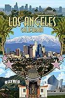 ロサンゼルス、カリフォルニア–モンタージュ 9 x 12 Art Print LANT-43648-9x12