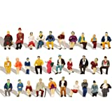 P8711 60pcs HO Scale 1:87 All Seated People Sitting Figures Passengers Model Desktop Decoration