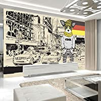 カスタム壁紙3dレトロストリー漫画犬子供ルーム壁画パペルデパレデ3d写真壁紙用寝室の壁,150cm×105cm