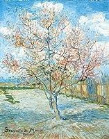 Vincent Van Gogh Peach Tree in Blossom Decorative Floral Nature Fineアートポストカードポスター印刷11x 14