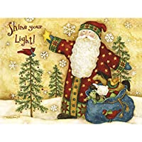 Lang Shine Classic Christmas Card by Debi Hron, 11cm x 15cm, 12 Cards and 13 Envelopes (2004027)