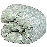 SNOWMAN 羽毛布団 シングル グースダウン90% ダウンパワー370dp 以上 2倍の洗浄度 7年長期保証 パワーアップ加工 ダウンプルーフ加工 洗浄 抗菌 防臭 防ダニ 掛け布団 (シングル, グリーン系ペイズリー柄)…