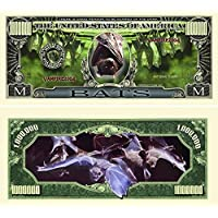 Bats Million Dollar Bill with Currency Protector by American Art Classics [並行輸入品]