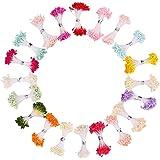 暖かい色 フラワー ペップ・花材 パールペップ 人工 造花用 花芯・ペップ 直径約3mm 長さ約6.5cm 造花 雄しべ…