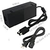 Power Supply Brick For Xbox One , AC Adapter Power Charger Cord Replacement with Cablefor Xbox One 100-240V Advanced Quietest