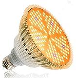 Esbaybulbs 100W相当 LED植物育成ライト 暖色系 太陽のような光 フルスペクトラム 150個LED プラ…