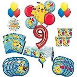 Pokemon 9日誕生日パーティーSupplies and 8ゲスト54pcバルーンデコレーションキット