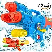 2個セット 水鉄砲 最強 超強力飛距離 10-12m ウォーターガン 3発 水ピスト 夏の定番 水遊び プール 高性能 おもちゃ 水撃ショット ビーチ 水 アウトドア 玩具 おもちゃ キャンプ プール用品