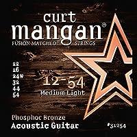 Curt Mangan Fusion Matched Phosphor Bronze Acoustic Strings (12-54) [並行輸入品]