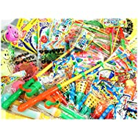 おもちゃ釣り100回セット (マグネット付き釣りざお3本セットとおまかせおもちゃ100個入)