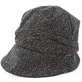 クイーンヘッド AWミラクルキャスダウンHAT 帽子 大きいサイズ レディース ハット つば広 紫外線 UV 防寒対策 小顔効果 【XLサイズ(58-61cm)-ブラック】