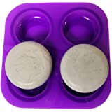 4 Cavities Silione Mandala Round Urchin Mold for Making Cement or Gypsum Stones for Mandala Dot Painting (1 Round Mold 4 Cavi