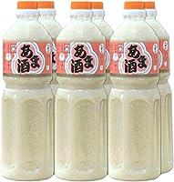 あま酒 1L×6本 (無加糖・ノンアルコール・ストレートタイプ甘酒)