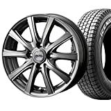 【2017年製】国産スタッドレスタイヤ(145R12 6PR)+ホイール(12インチ)4本SET(1台分)■Bセット:D.O.S SE-10R[メタリックグレー]