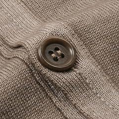 Garment Dyed V-neck Sweater Vest: Brown