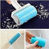 洗って繰り返し使える 粘着クリーナー コロコロクリーナー ローラークリーナー (青い(大きいと小さいのはワンセットです))