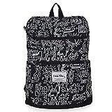 キースへリング (Keith Haring) リュック サック 黒 ブラック ホワイト メンズ レディース おしゃれ アウトドア 大容量 (KH1601 ブラック)