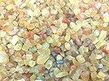 [テソロ]TESORO 天然石小原石ラフロックタンブルチップ イエローアパタイト 粒売り 50個 sr-yap-i-7