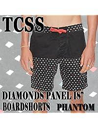 "TCSS/The Critical Slide Society DIAMONDS PANEL 18"" TRUNK PHANTOM 水陸両用ハイブリッドタイプ_サーフィン男性用水着_海パン/海水パンツ メンズ サーフパンツ ザクリティカルスライドソサイエティ"