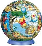 3D球体パズル ディズニー 240ピース 100エーカーの森へようこそ (直径約15.2cm)
