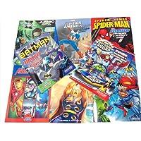 8 Pack DC & Marvel Mix Colouring/Activity Books Batman Thor Captain America