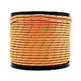 Soomloom テント用ロープ 反射材付き 全長50m ロープ直径4? (オレンジ)