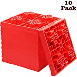 yosager 10 Pack Heavy Duty Leveling Blocks, Ideal for Leveling Single and Dual Wheels, Camper Levelers, Tongue Jacks, Hydraul