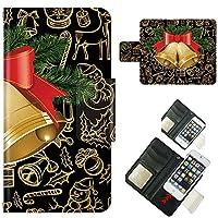 AQUOS PHONE 106SH ☆ ケース・カバー 完全受注生産 完全国内印刷 スライド式スマホケース 手帳型 クリスマスベル アクオス フォン ホン ゼータ セリエ スマホカバー オリジナルデザイン プリント 日本製