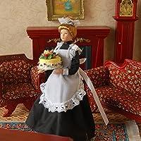 SONONIA 2個 1/12サイズ ドールハウス ミニチュア 磁器製 人形 飾り(女中)