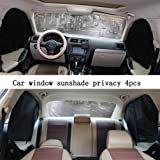ZATOOTO Sun Shade for Car Window - 2 Pieces Side Window Sunshades for Baby Women Men Foldable Front Back-4 Front Back-4