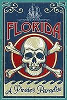 フロリダ州–Skull And Crossbones 24 x 36 Giclee Print LANT-45149-24x36
