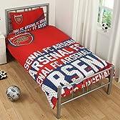 海外サッカー 公式 オフィシャル / シングルサイズ リバーシブル 掛布団カバー・枕カバー セット 全8種 (Arsenal FC / アーセナル) [並行輸入品]